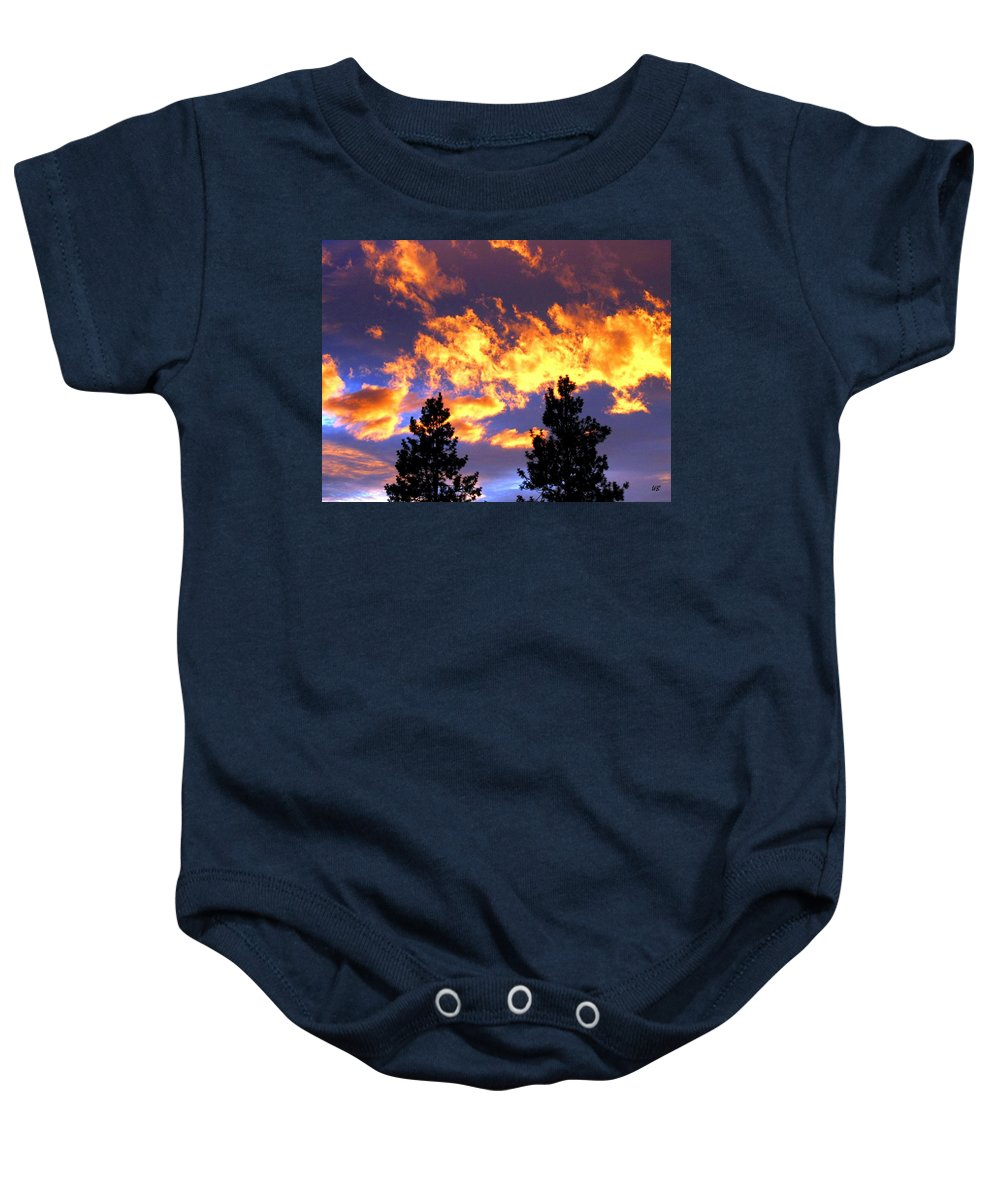 Sunset Baby Onesie featuring the photograph Okanagan Sunset by Will Borden