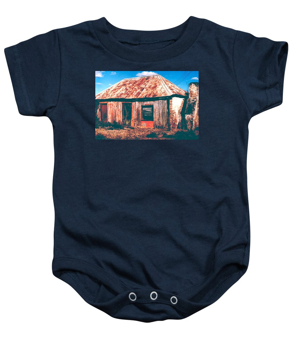 Australia Baby Onesie featuring the photograph Old Farm House by Gary Wonning
