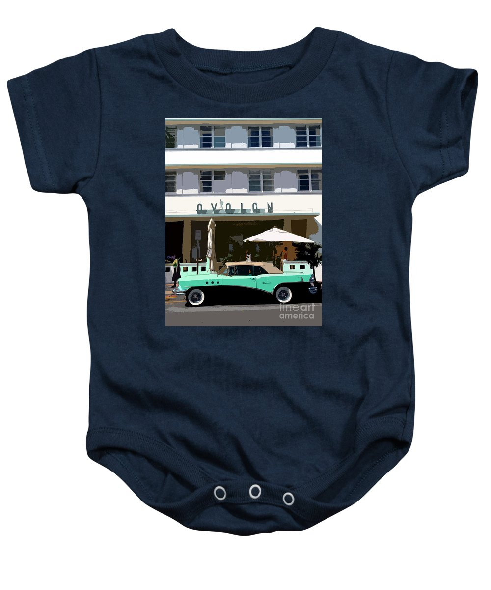 Miami Beach Florida Baby Onesie featuring the photograph Old Miami Beach by David Lee Thompson