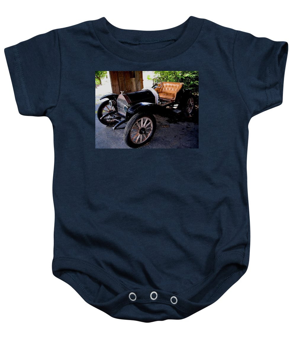Car Baby Onesie featuring the photograph Old Timer by April Patterson