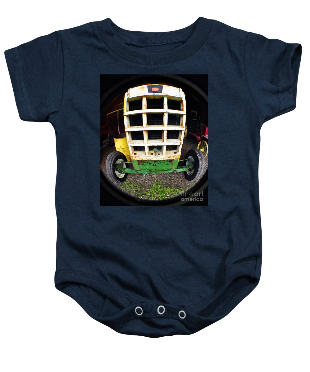 Clay Baby Onesie featuring the photograph Old Tractor by Clayton Bruster