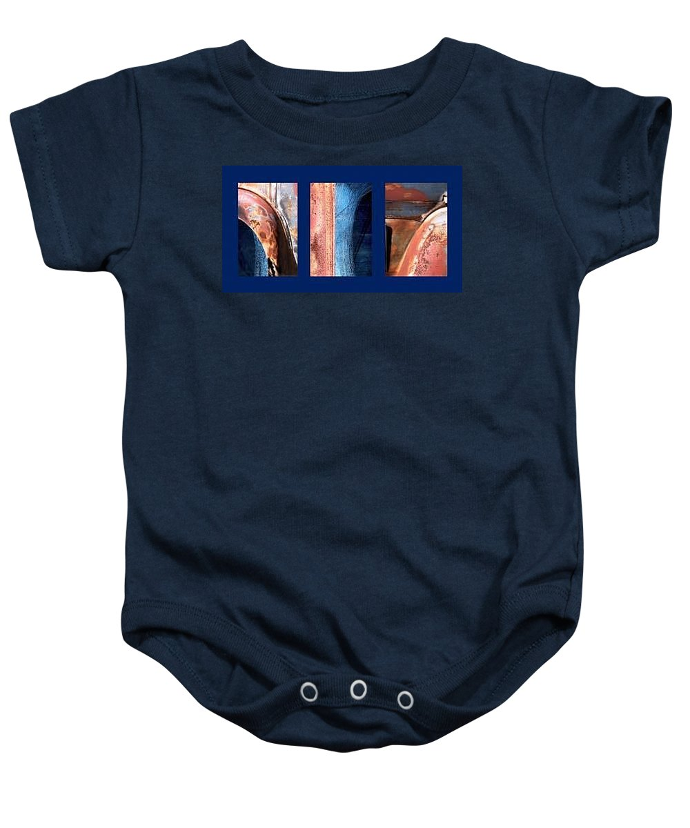 Abstract Baby Onesie featuring the photograph Ole Bill by Steve Karol