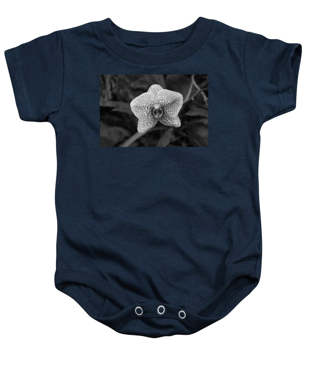Macro Baby Onesie featuring the photograph Orchid by Rob Hans