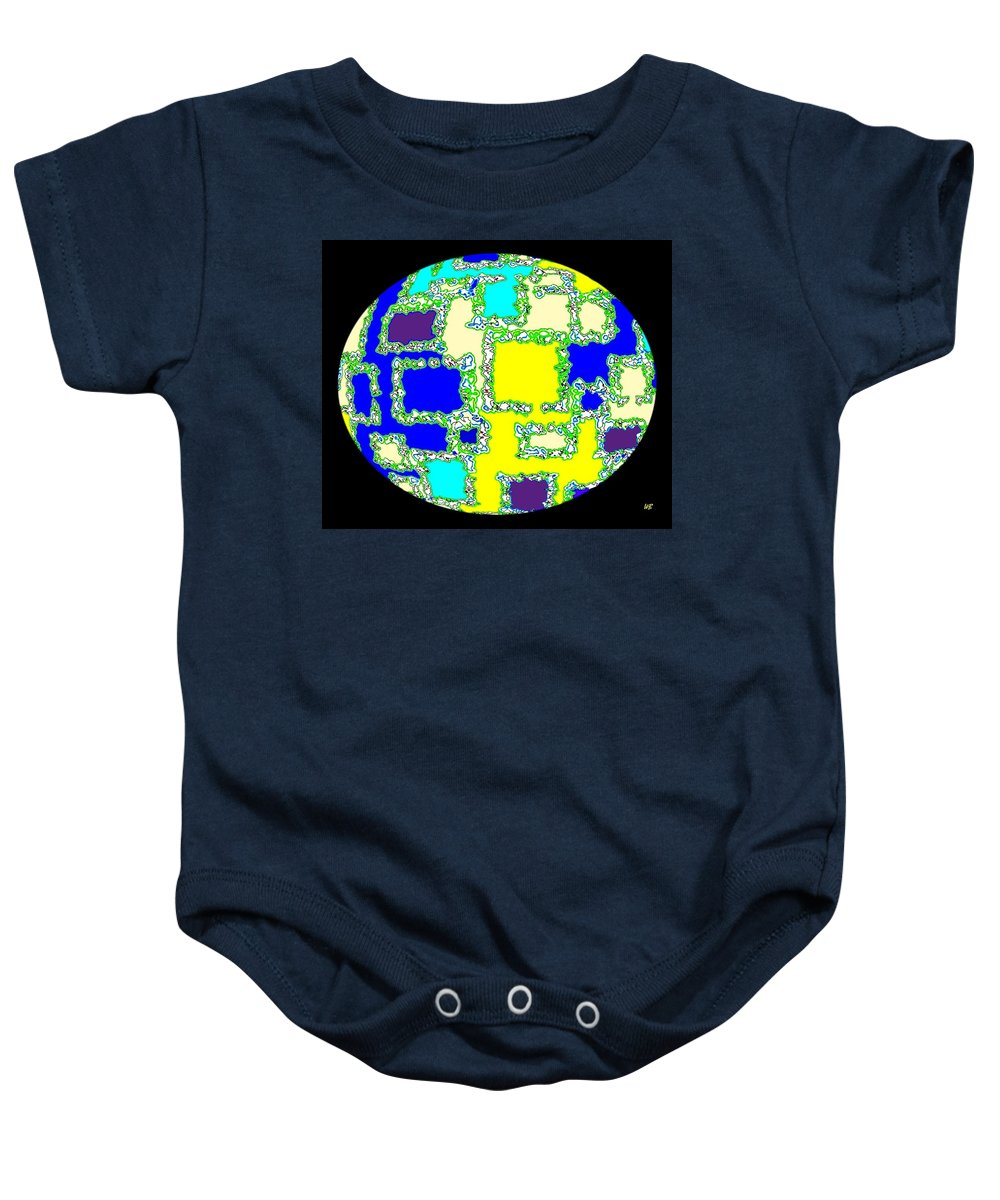 Abstract Baby Onesie featuring the digital art Ostrich Egg by Will Borden