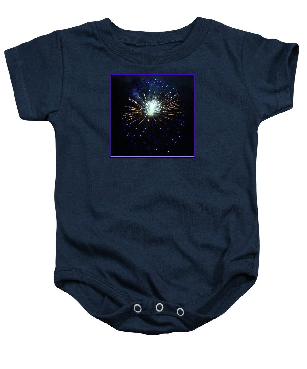 Fireworks Baby Onesie featuring the photograph Outer Space by Mina Thompson