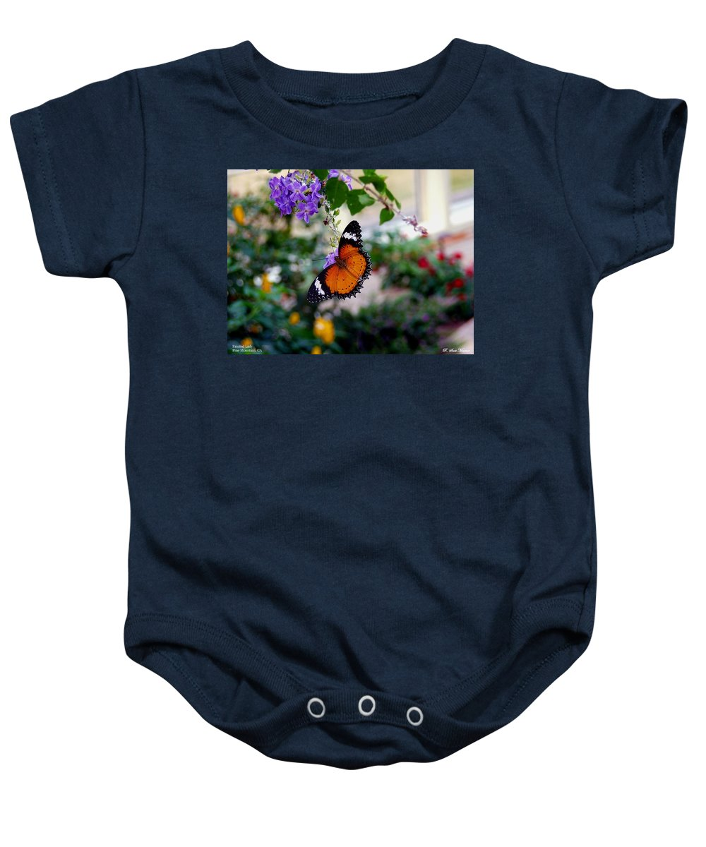 Butterfly Baby Onesie featuring the photograph Painted Lady by Robert Meanor
