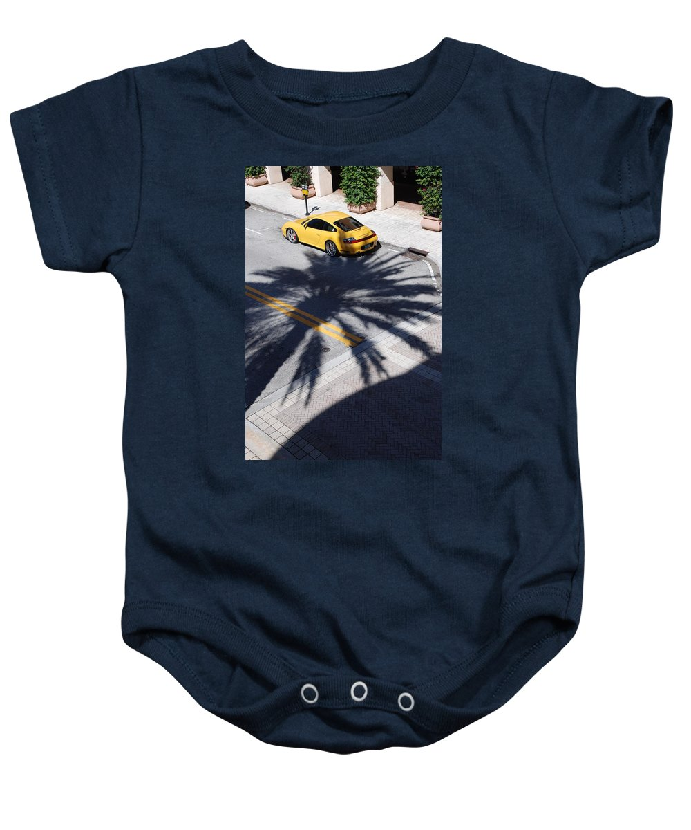 Porsche Baby Onesie featuring the photograph Palm Porsche by Rob Hans