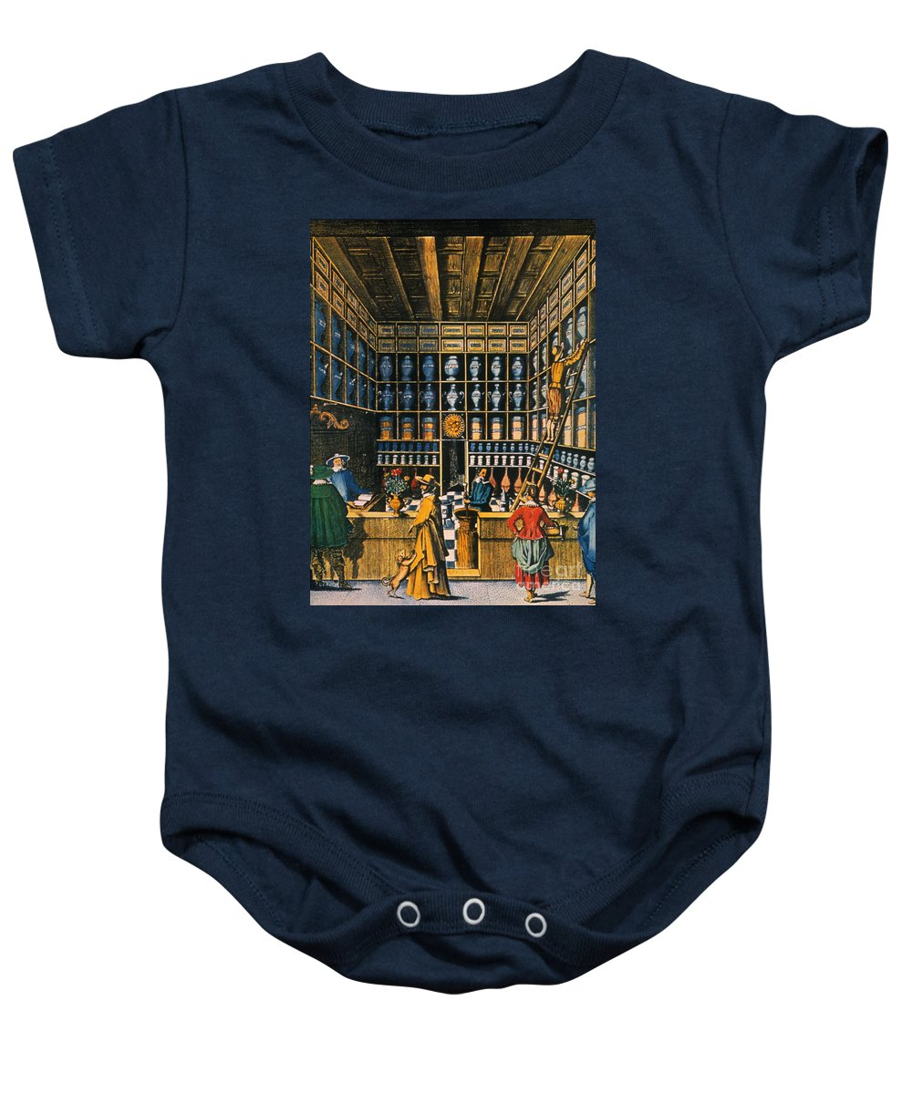 1624 Baby Onesie featuring the photograph Parisian Pharmacy, 1624 by Granger