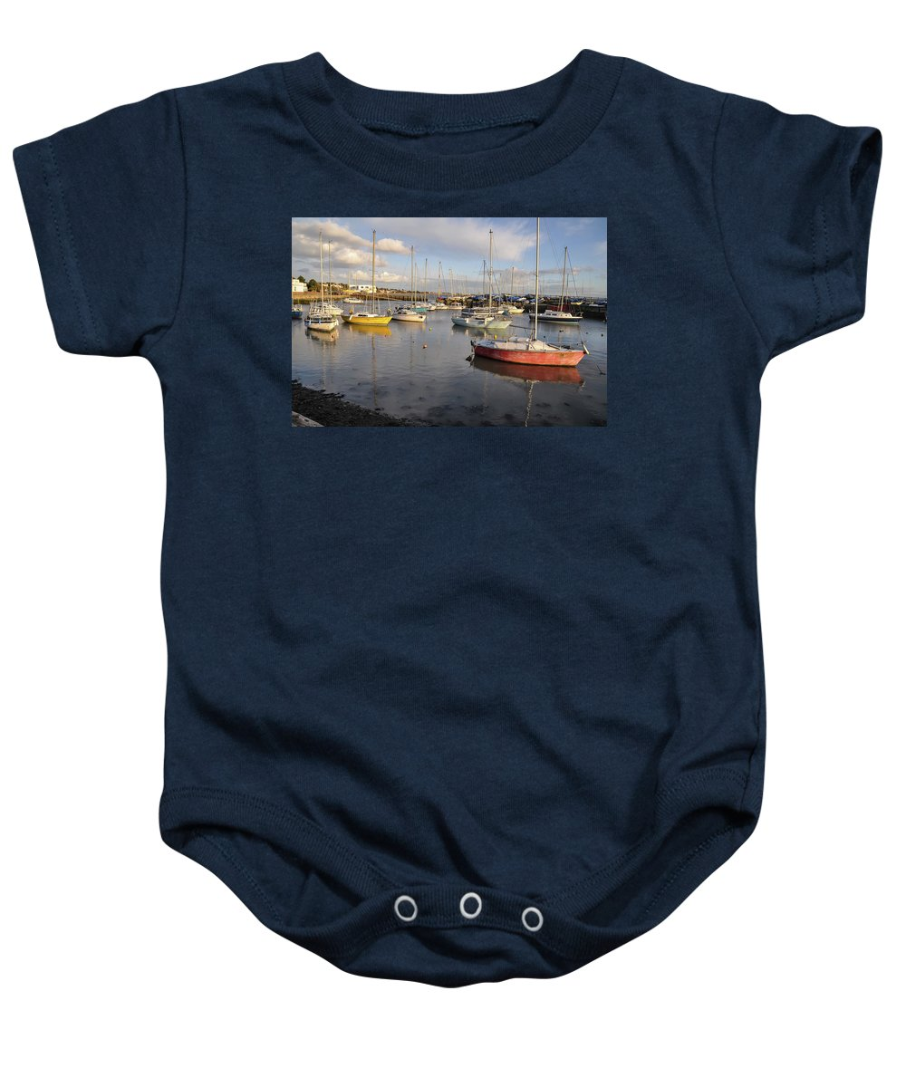 Britain Baby Onesie featuring the photograph Peaceful Mooring by Peter Hayward Photographer