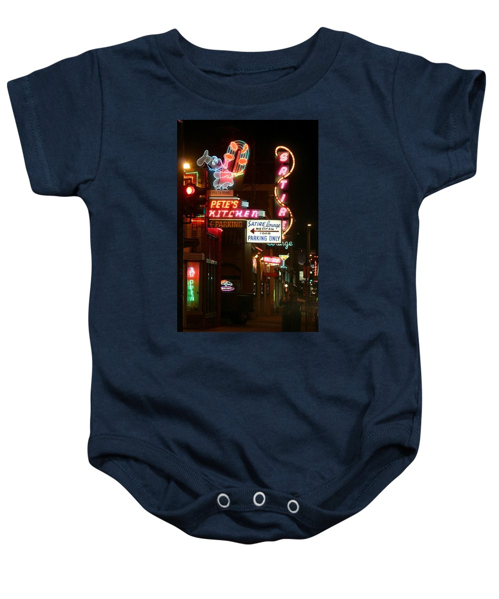 Pete's Baby Onesie featuring the photograph Pete's Kitchen by Jeffery Ball