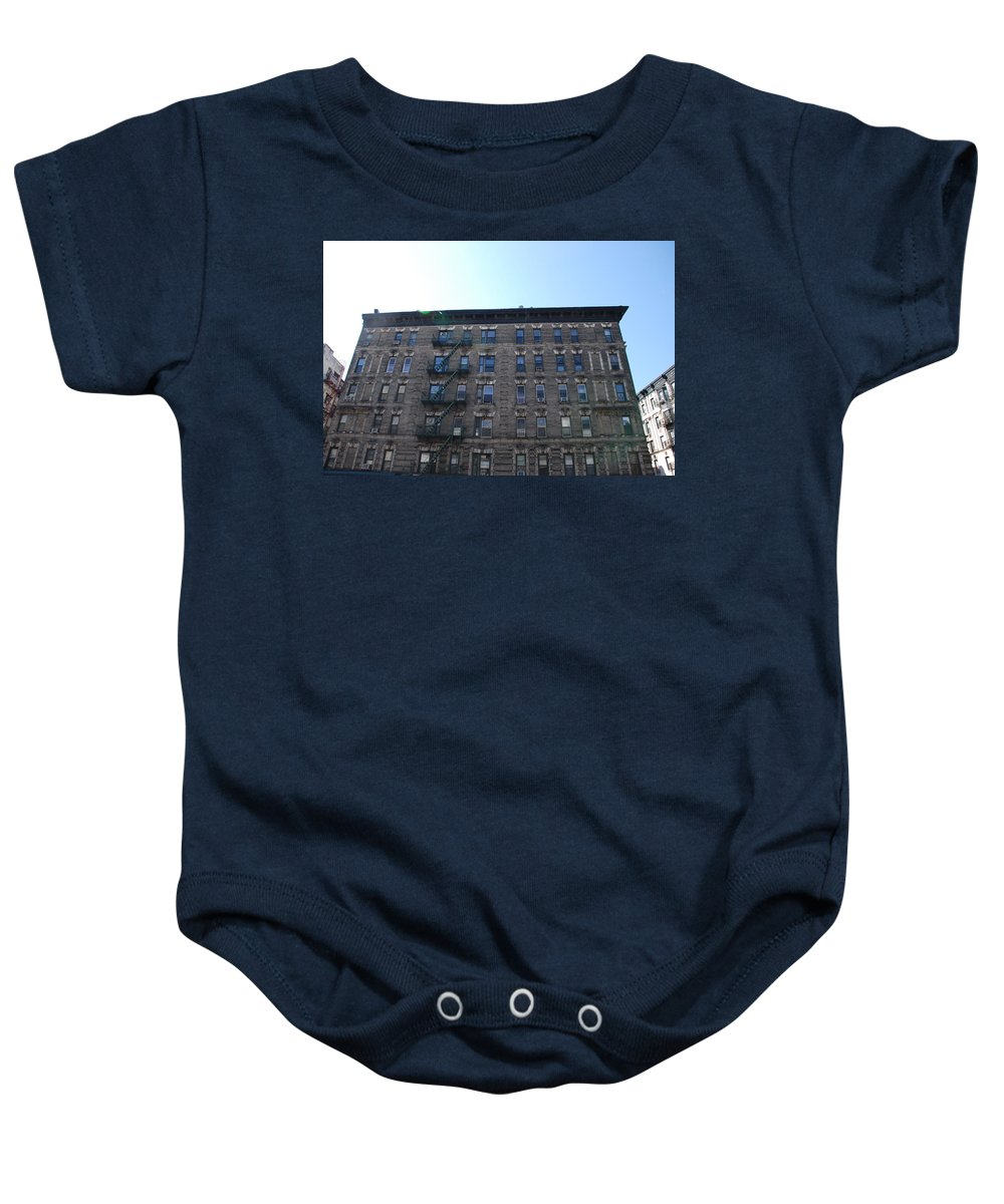 Architecture Baby Onesie featuring the photograph Physical Graffitti by Rob Hans