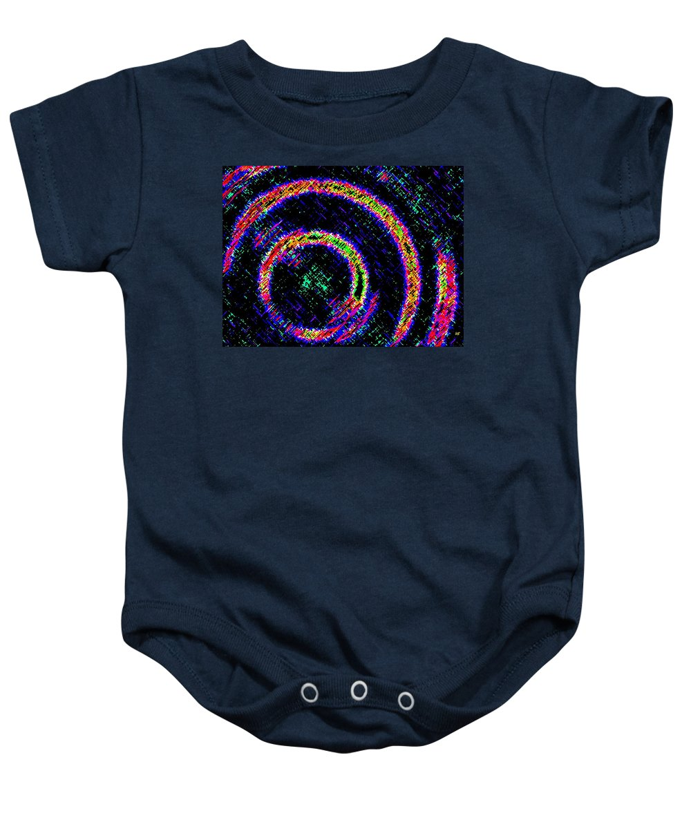 Abstract Baby Onesie featuring the digital art Pizzazz 2 by Will Borden