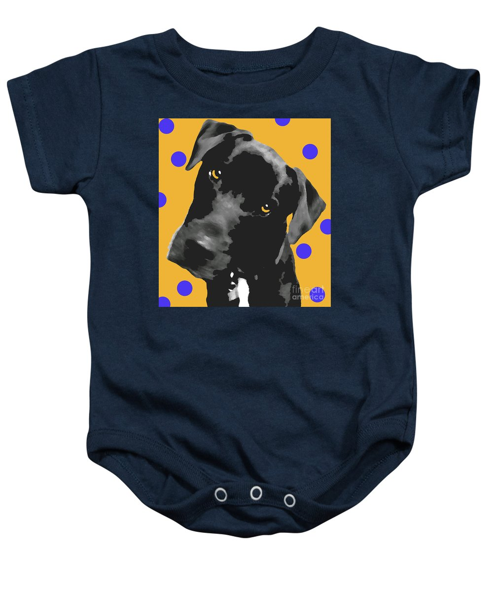 Dogs Baby Onesie featuring the photograph Polka Dot by Amanda Barcon