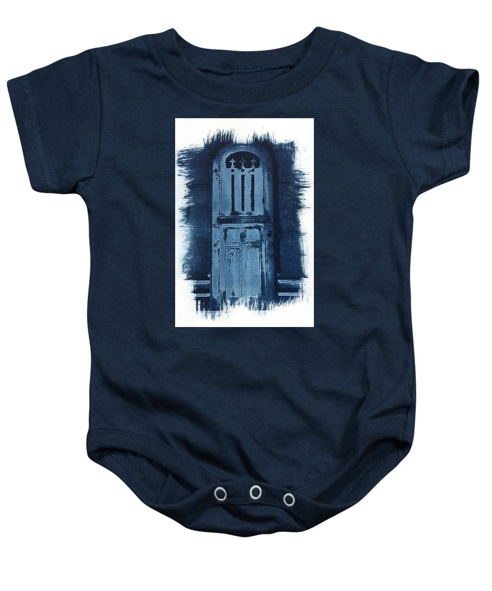 Cyanotype Baby Onesie featuring the photograph Portals by Jane Linders