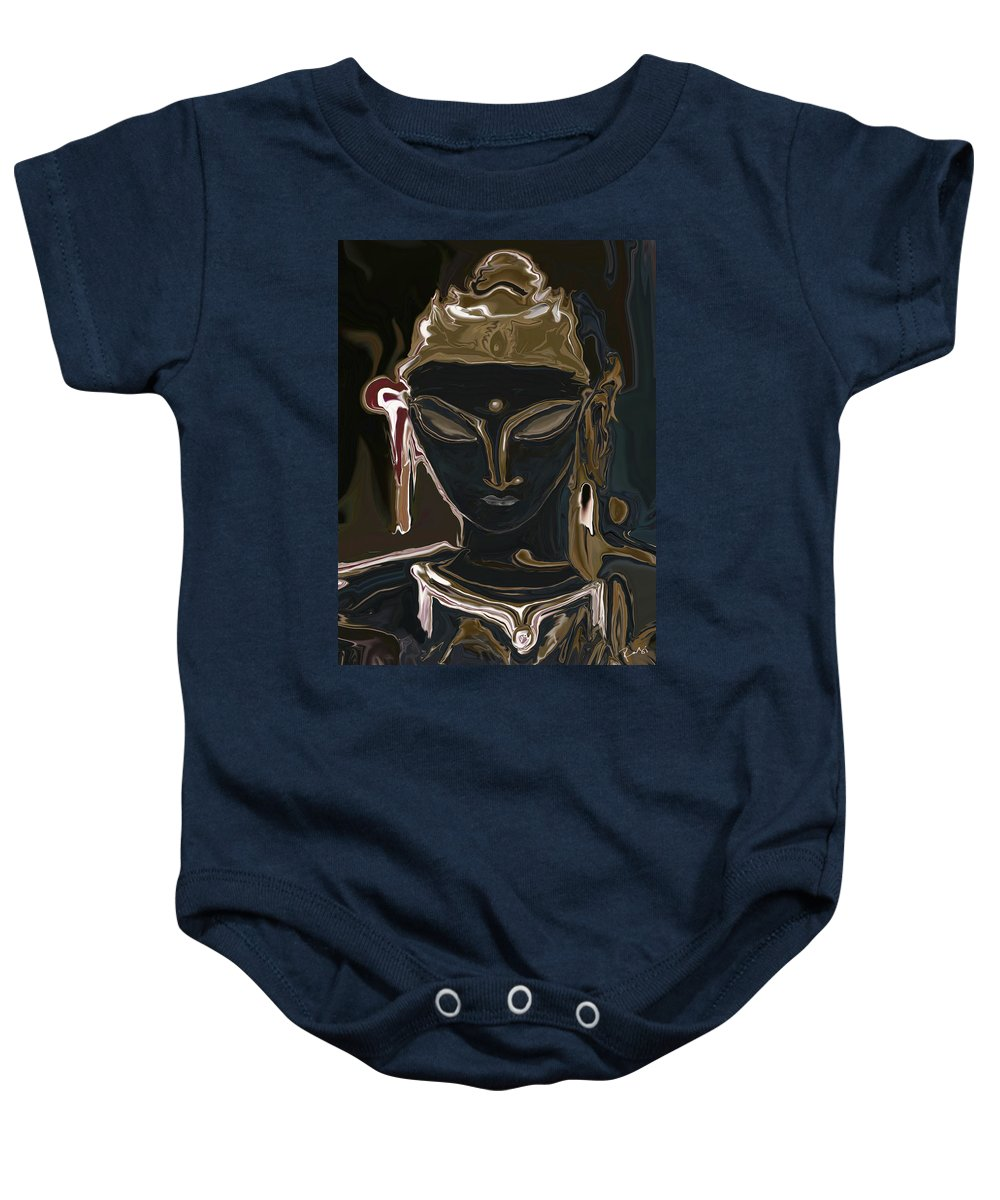 Art Baby Onesie featuring the digital art Portrait Of Vajrasattva by Rabi Khan