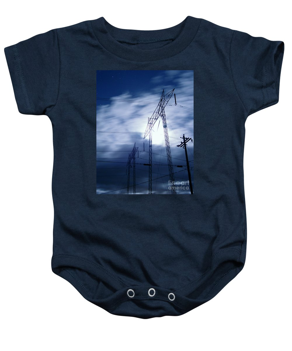 Clouds Baby Onesie featuring the photograph Power Surge by Peter Piatt