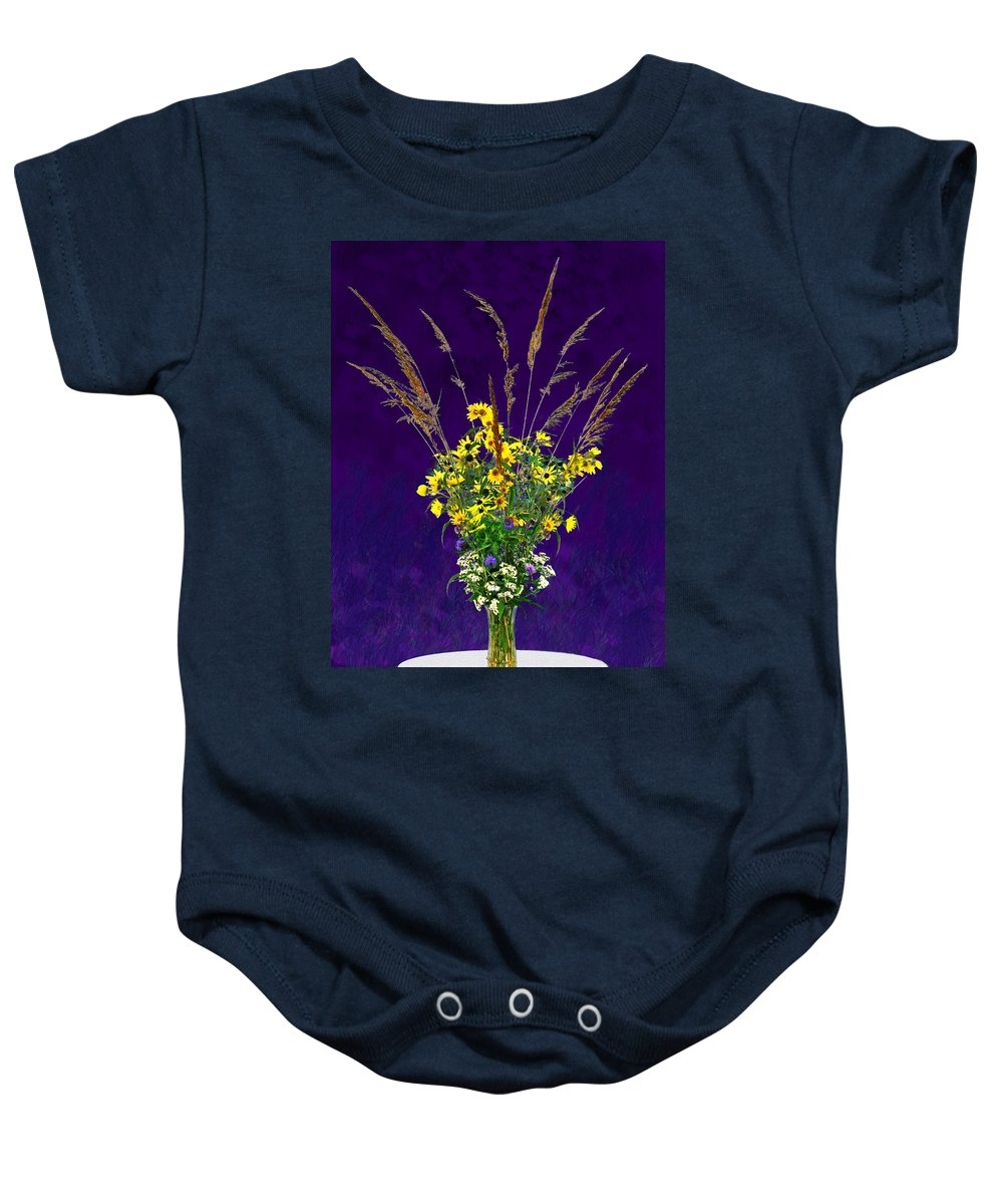 Flowers Baby Onesie featuring the photograph Prairie Bouquet by Steve Karol
