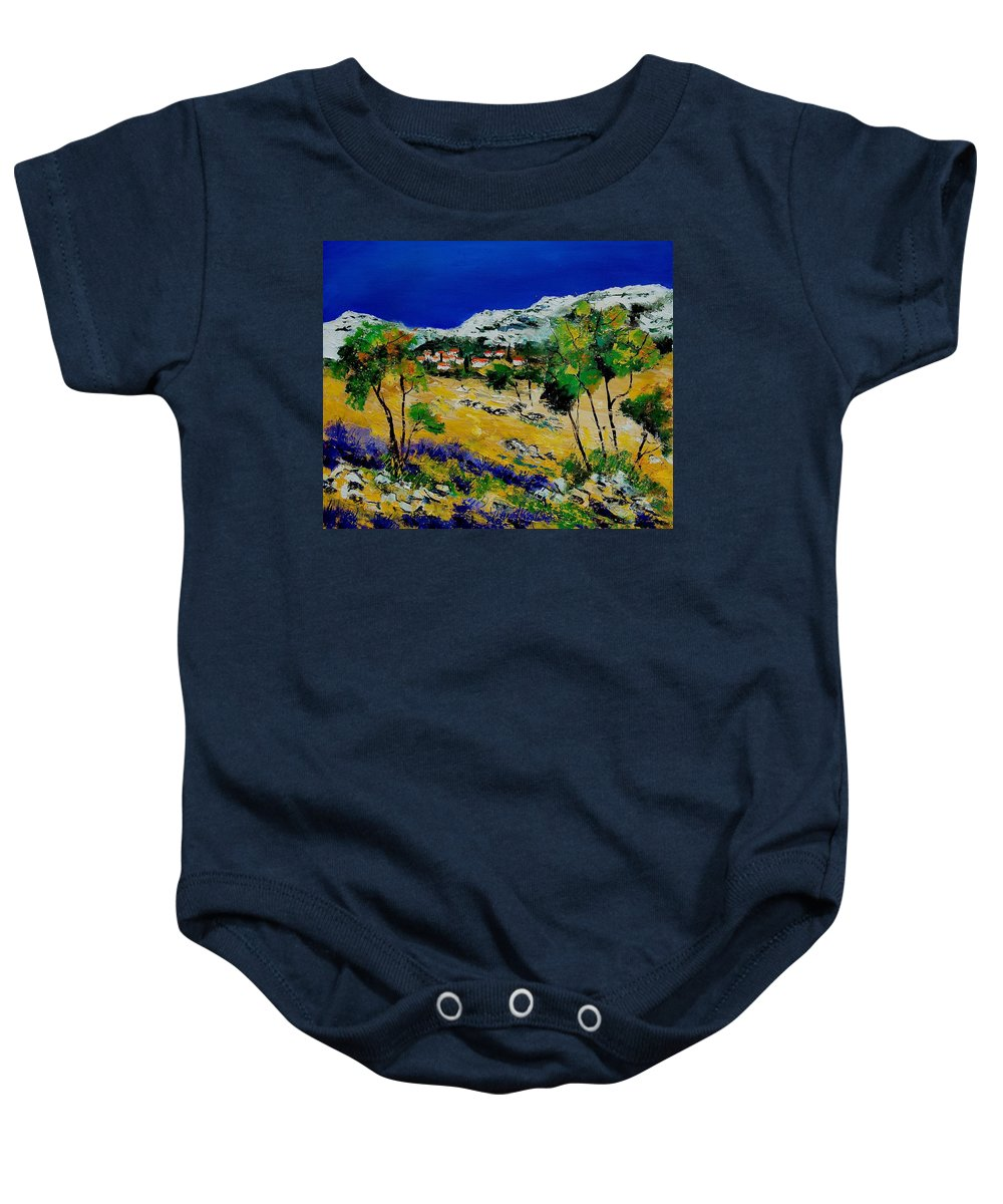 Provence Baby Onesie featuring the painting Provence 569060 by Pol Ledent