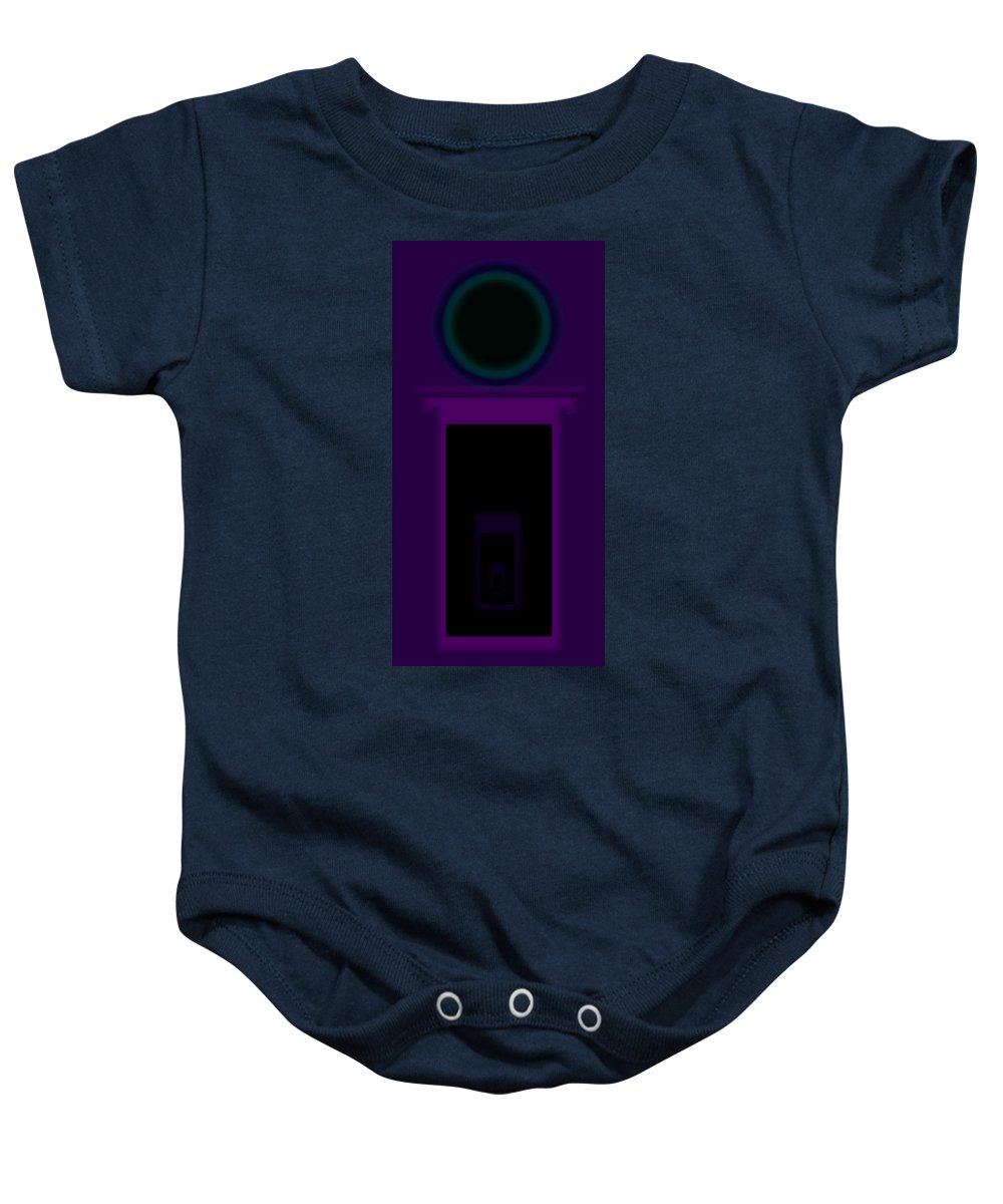 Palladian Baby Onesie featuring the painting Radio Purple Palladio by Charles Stuart
