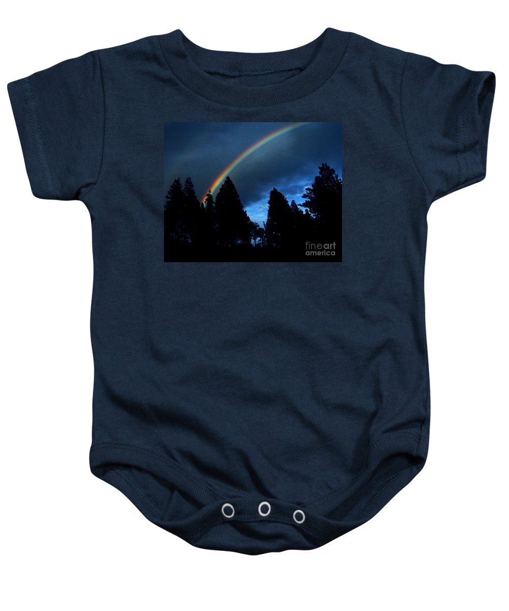 Rainbow Baby Onesie featuring the photograph Rainbow Sky by Peter Piatt