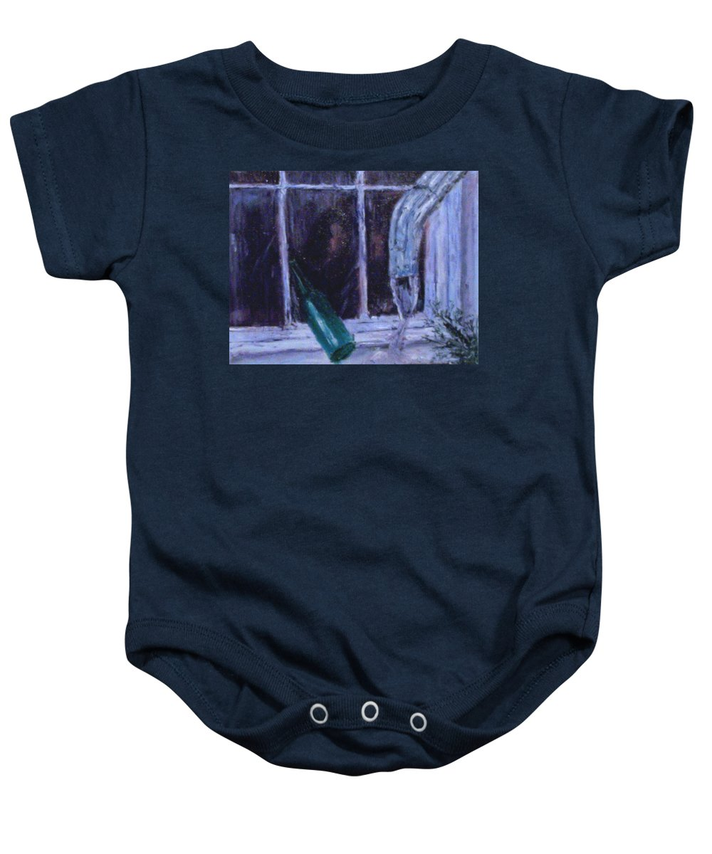 Original Baby Onesie featuring the painting Rainy Day by Stephen King