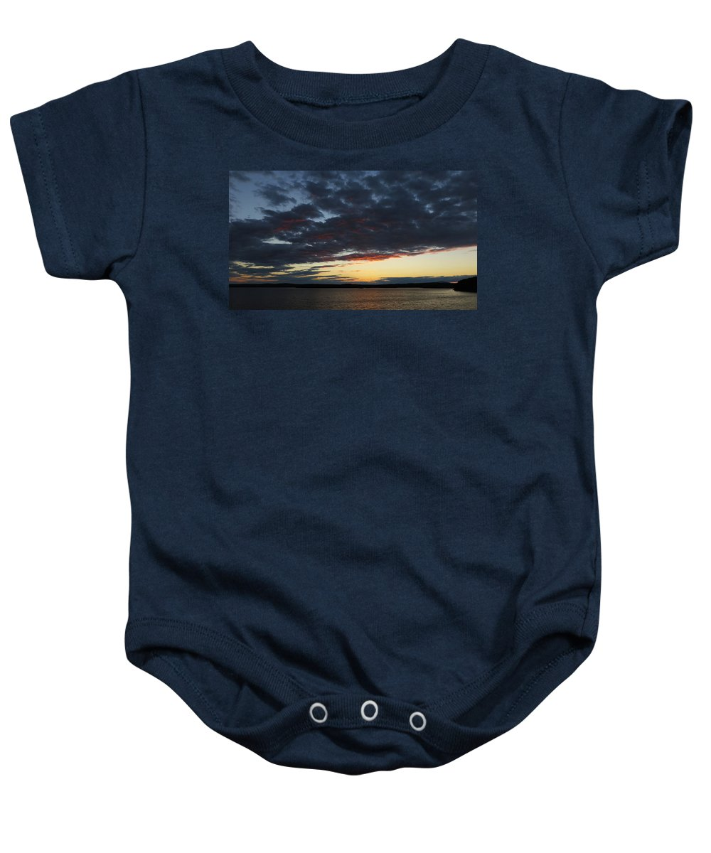 Vivid Sunset Baby Onesie featuring the photograph Red Glow by Ronald Raymond