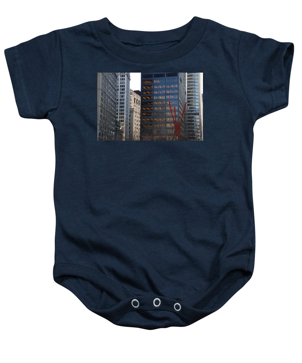 Street Scene Baby Onesie featuring the photograph RED by Rob Hans