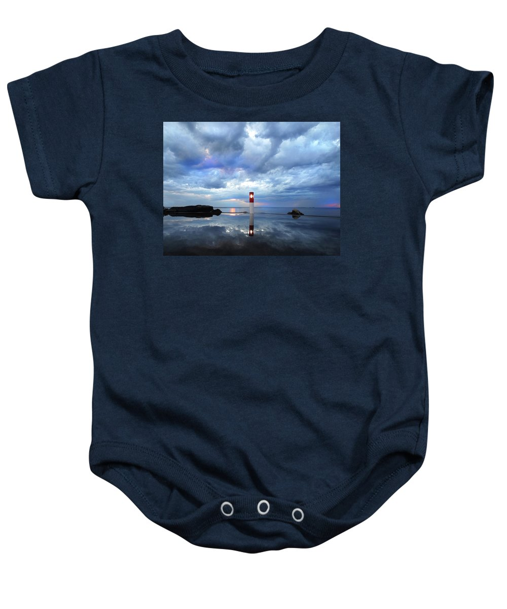 Thunderstorm Baby Onesie featuring the photograph Reflection After A Rain 2 by David T Wilkinson