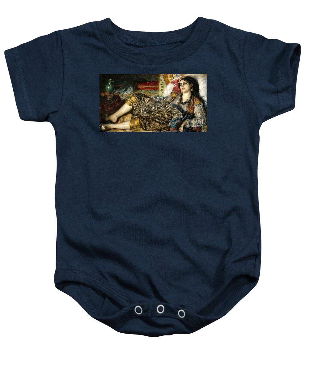 1870 Baby Onesie featuring the photograph Renoir: Odalisque, 1870 by Granger