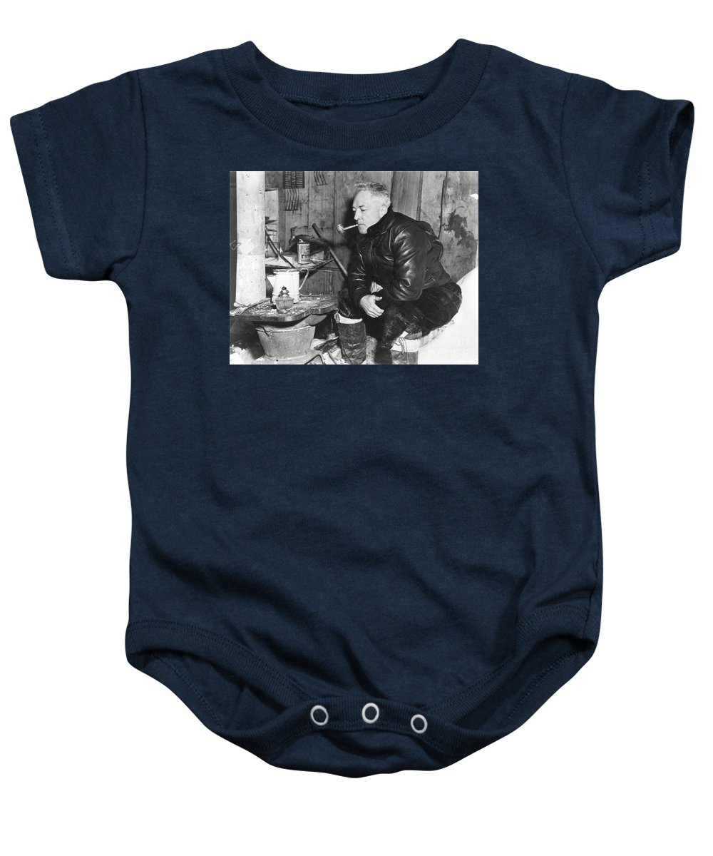 1946 Baby Onesie featuring the painting Richard Evelyn Byrd by Granger