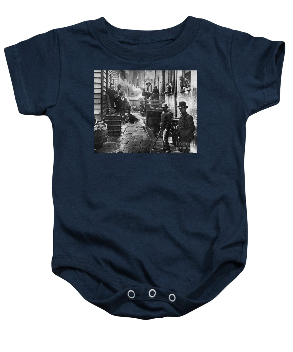 1887 Baby Onesie featuring the photograph Riis: Bandits Roost, 1887 by Granger