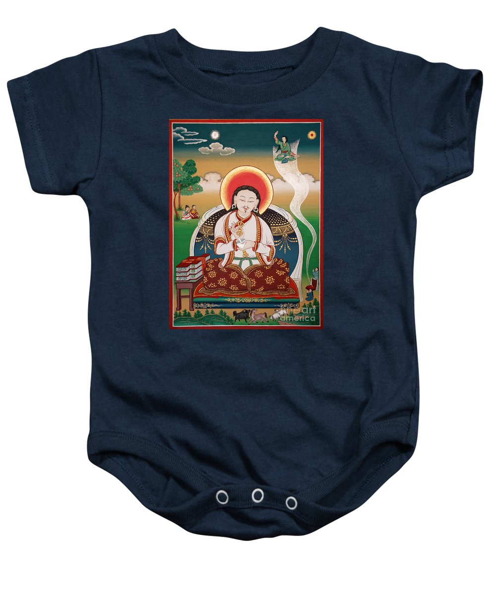 Rongzom Baby Onesie featuring the painting Rongzom Chokyi Zangpo by Sergey Noskov