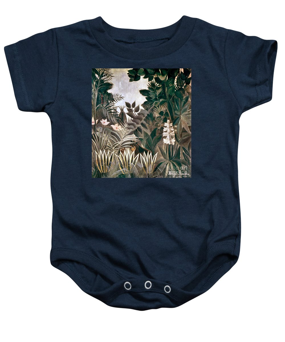 1909 Baby Onesie featuring the photograph Rousseau: Jungle, 1909 by Granger
