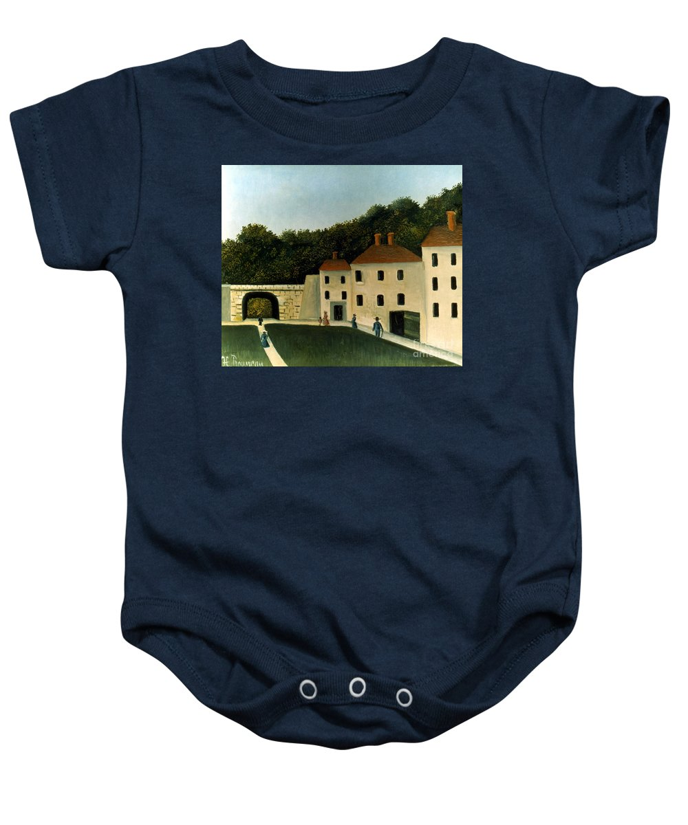 1907 Baby Onesie featuring the photograph Rousseau:promenaders,c1907 by Granger