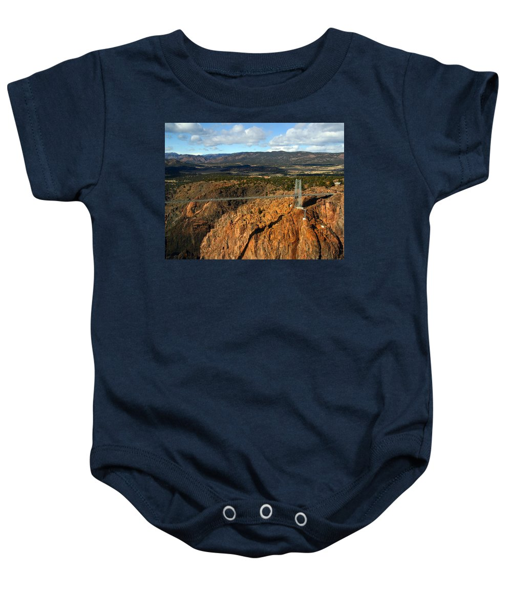 Royal Gorge Baby Onesie featuring the photograph Royal Gorge by Anthony Jones