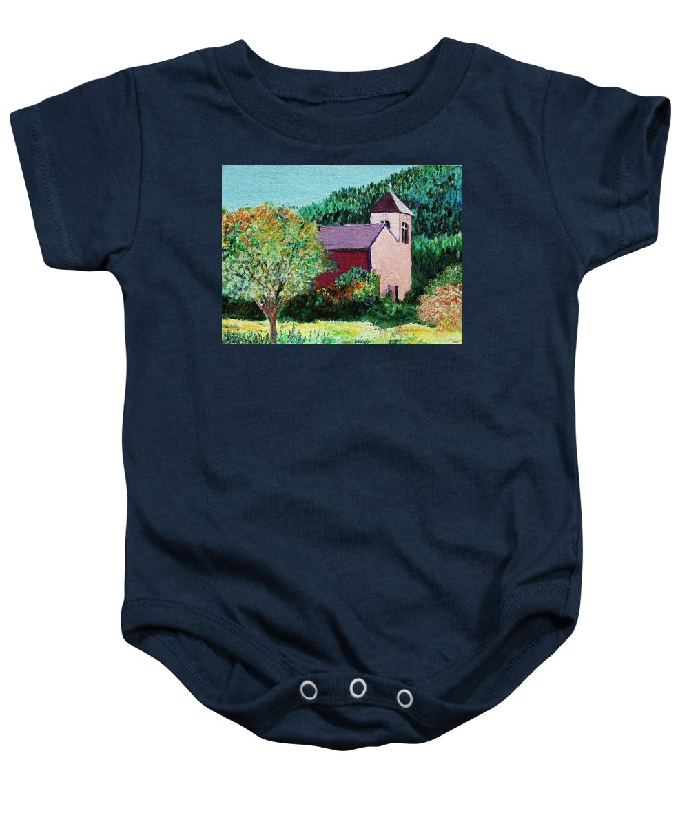 Church Baby Onesie featuring the painting Ruidoso by Melinda Etzold