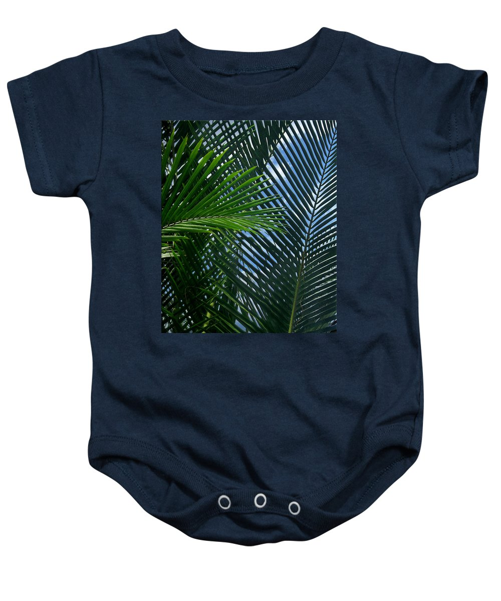 Indonesia Baby Onesie featuring the photograph Sago Palm Fronds by Mark Sellers