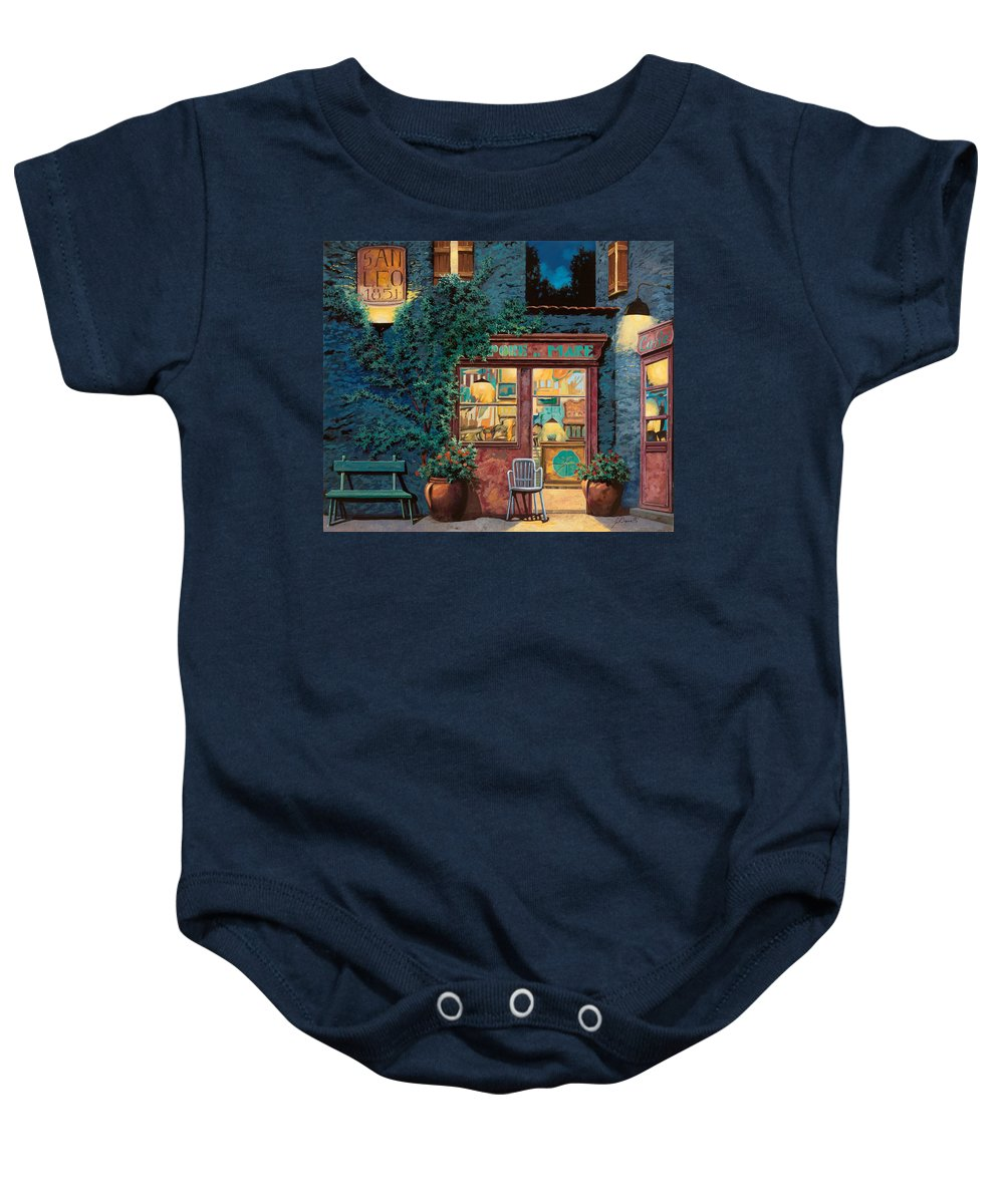 Courtyard Baby Onesie featuring the painting Sapore Di Mare by Guido Borelli