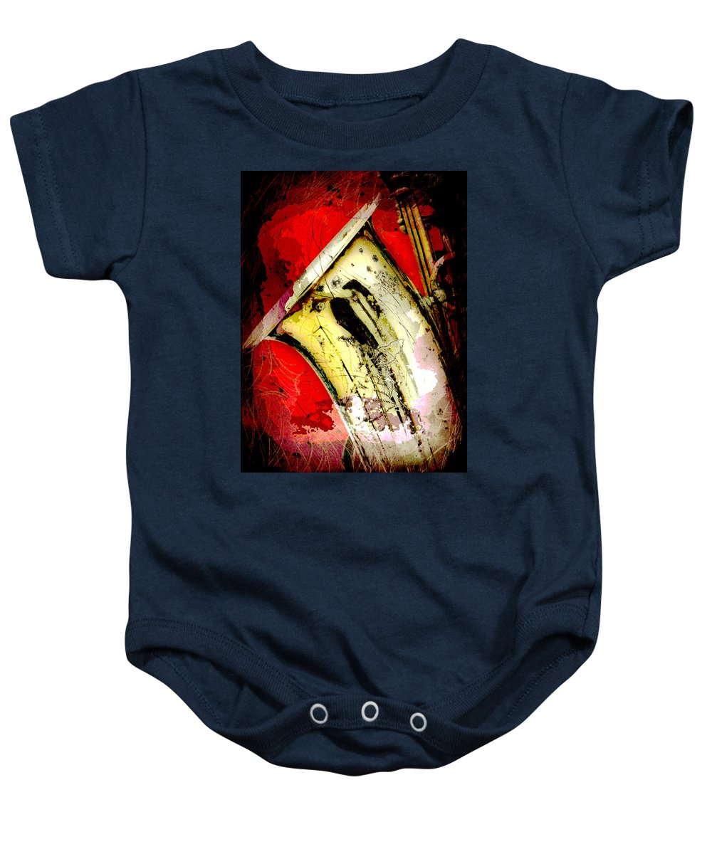 Sax Baby Onesie featuring the photograph Saxophone by David G Paul