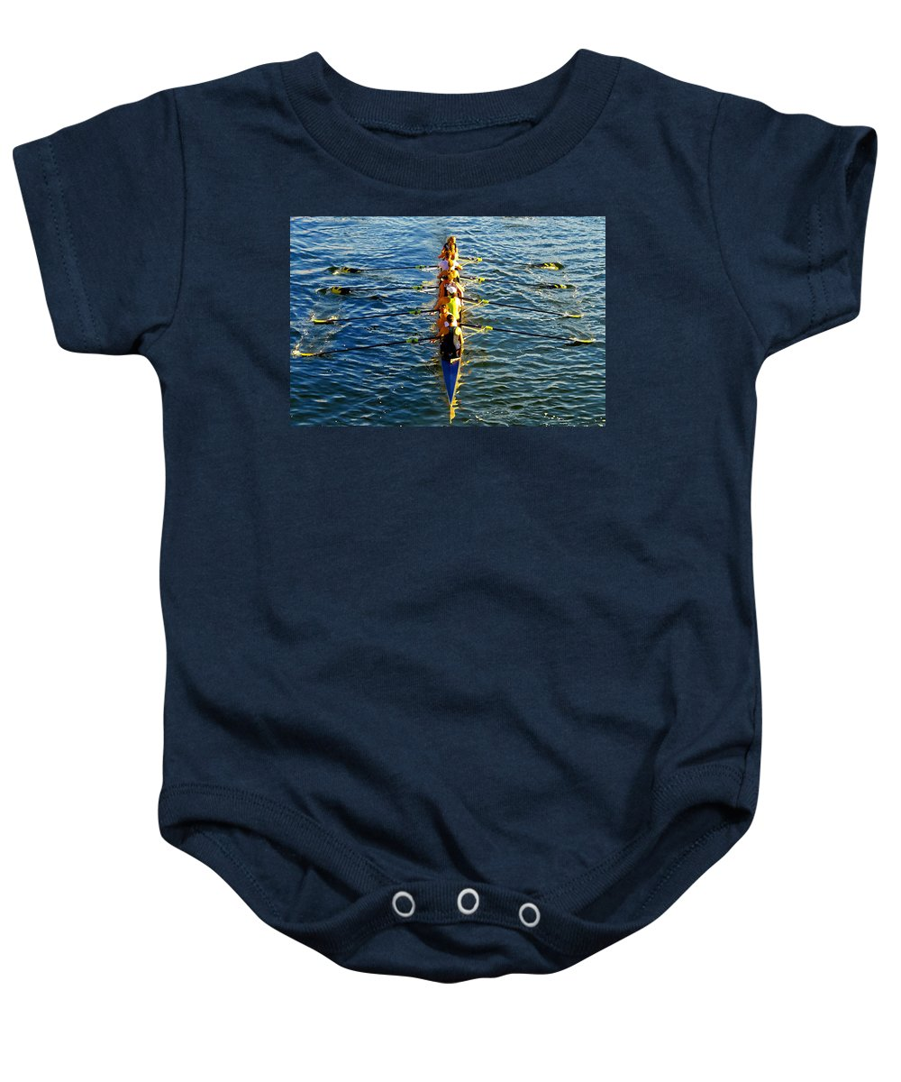 Females Baby Onesie featuring the photograph Sculling Women by David Lee Thompson