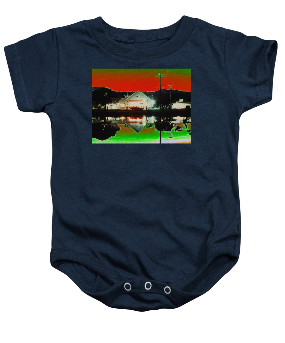 Seabeck Baby Onesie featuring the photograph Seabeck General Store by Tim Allen