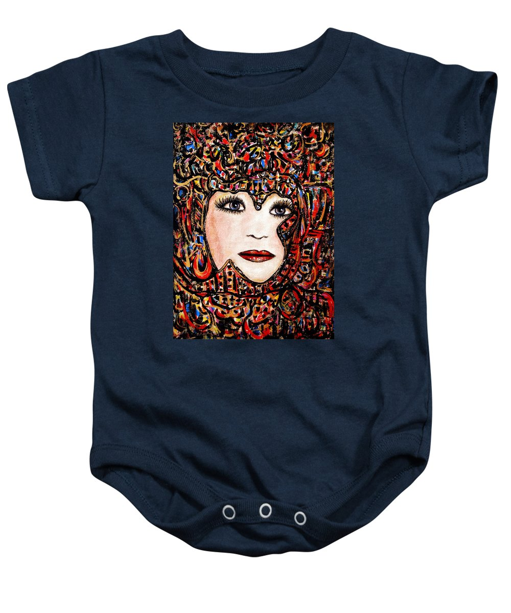 Self-portrait Baby Onesie featuring the painting Self-portrait-6 by Natalie Holland
