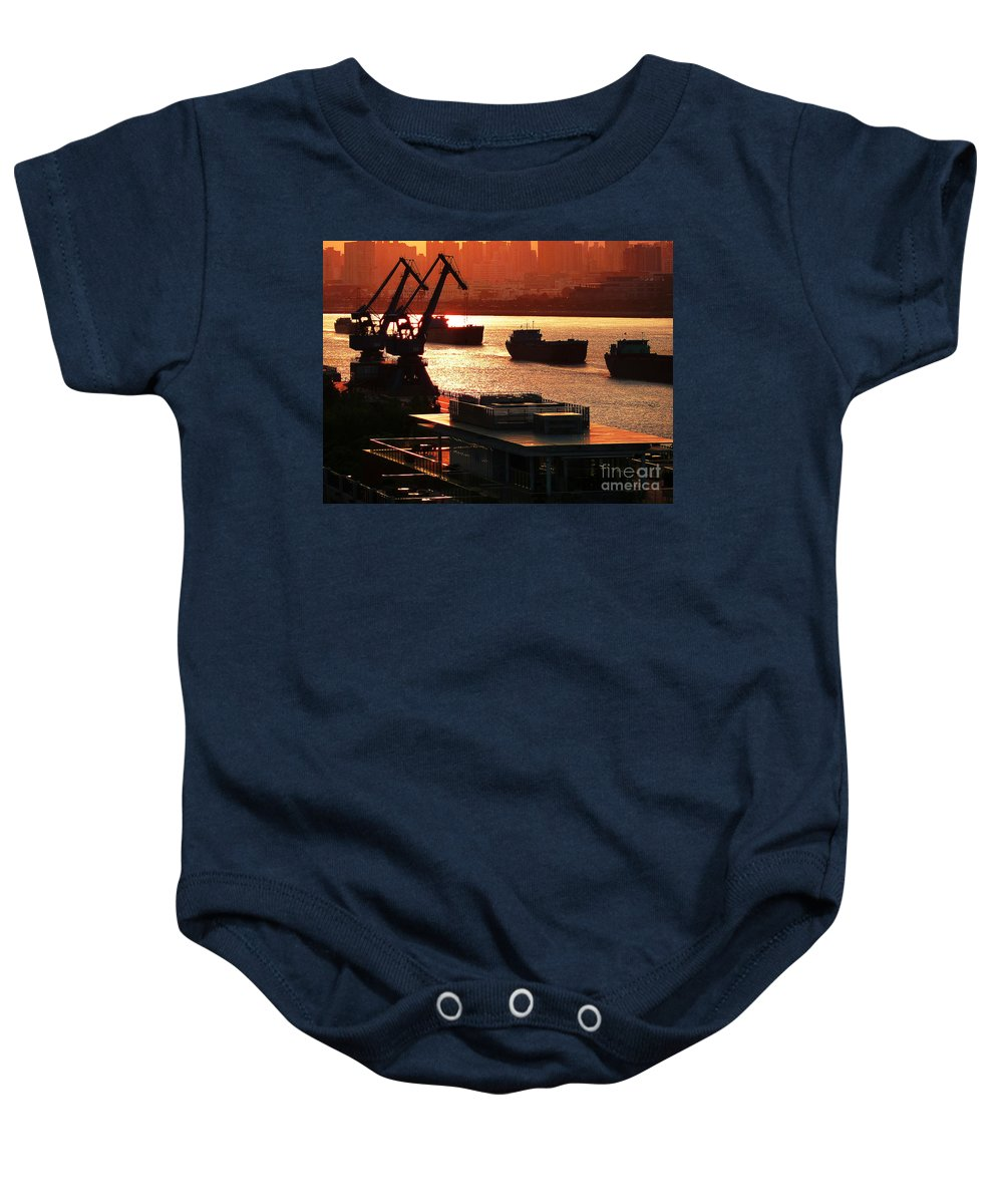 Photograph Baby Onesie featuring the photograph Shanghai City 14 by Xueling Zou