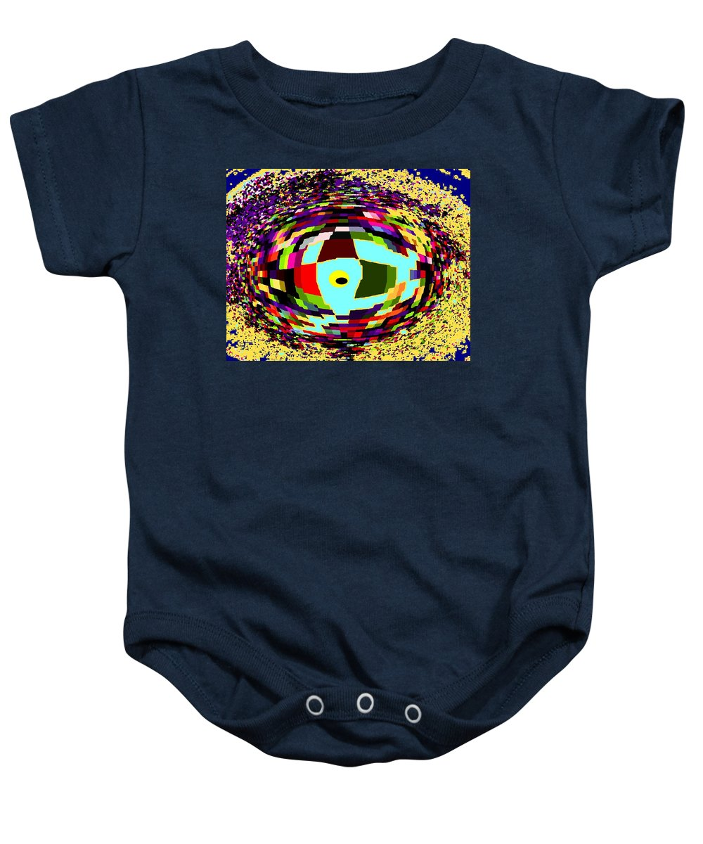 Abstract Baby Onesie featuring the digital art Shattered by Ian MacDonald