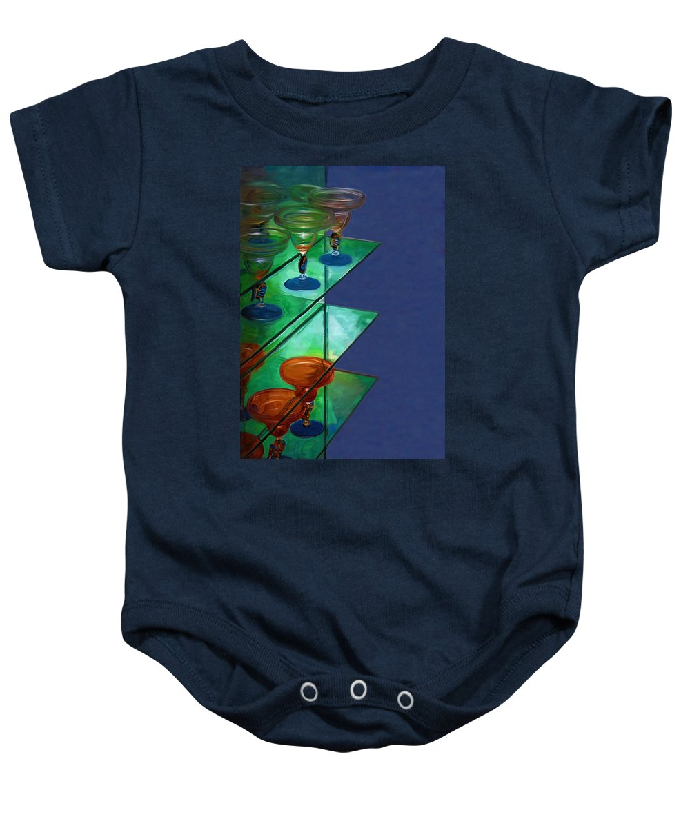 Still Life Baby Onesie featuring the digital art Sheilas Margaritas by Holly Ethan