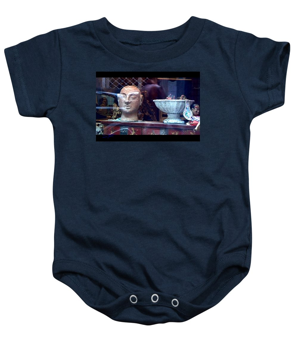 Dream Baby Onesie featuring the photograph Shop Window by Charles Stuart