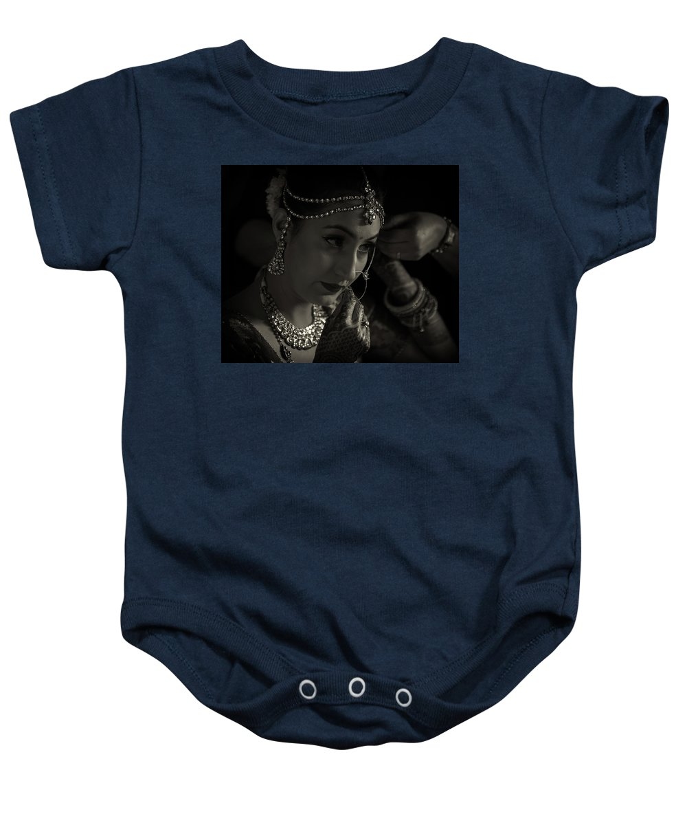Portrait Baby Onesie featuring the photograph Shringar by Kedar Munshi