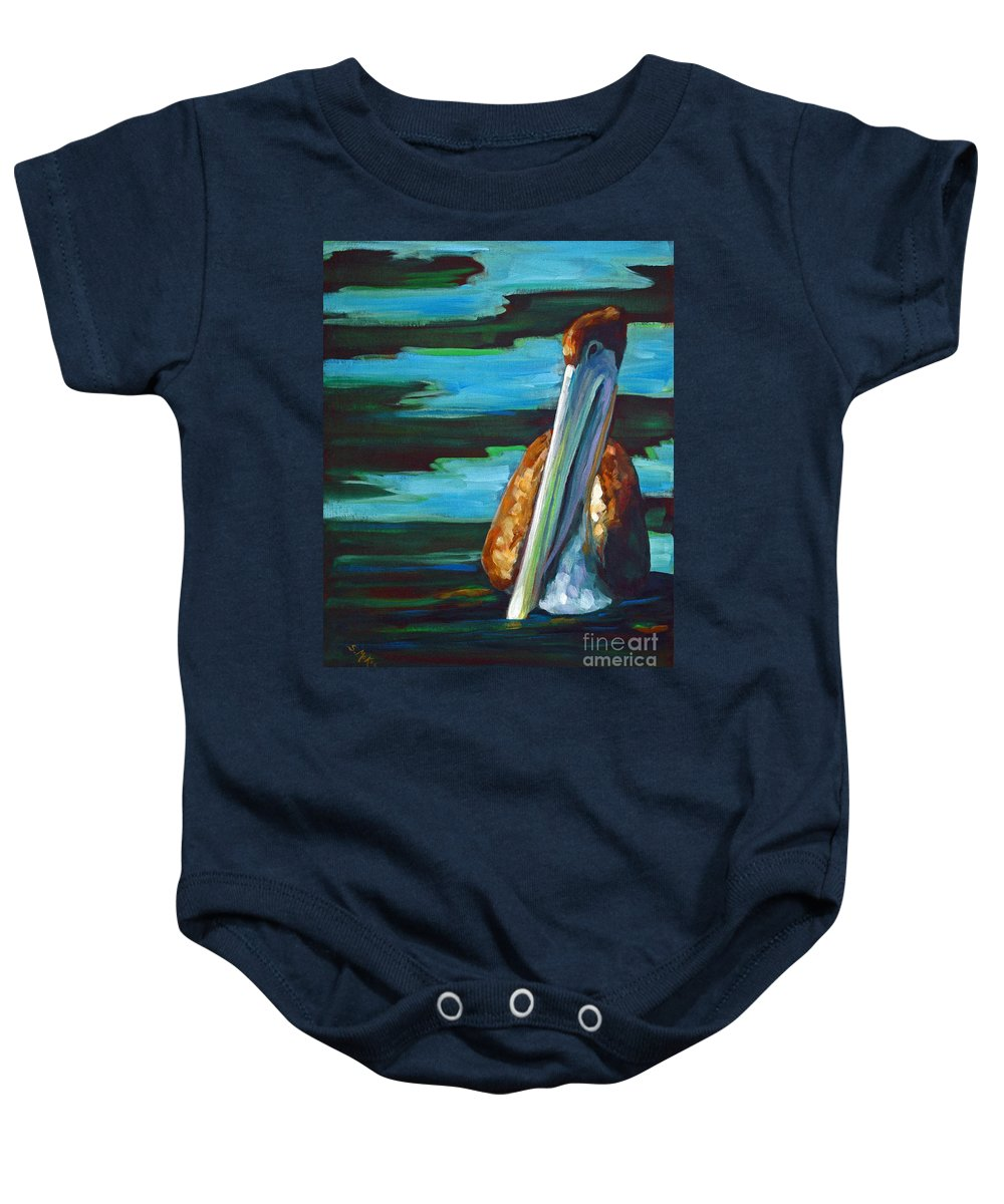 Acrylic Baby Onesie featuring the painting Shy Brownie by Suzanne McKee