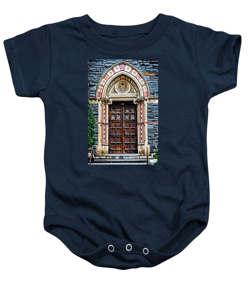 Church Baby Onesie featuring the photograph Side Entrance by Christopher Holmes