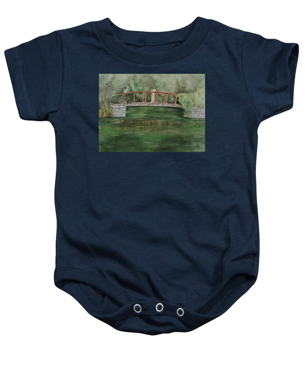 The Springs Makes Our Hearts Sing After Winter. Landscape Baby Onesie featuring the painting Signs Of Spring by Charme Curtin